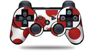 Sony PS3 Controller Decal Style Skin - Kearas Polka Dots Brick (CONTROLLER NOT INCLUDED)