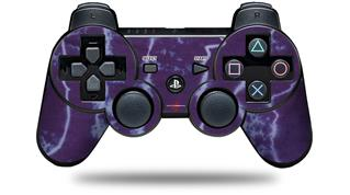 Sony PS3 Controller Decal Style Skin - Tie Dye White Lightning (CONTROLLER NOT INCLUDED)