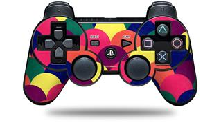 Sony PS3 Controller Decal Style Skin - Brushed Cirlces Multi Dark (CONTROLLER NOT INCLUDED)