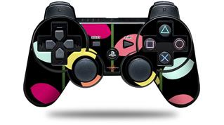 Sony PS3 Controller Decal Style Skin - Plain Leaves On Black (CONTROLLER NOT INCLUDED)