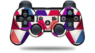 Sony PS3 Controller Decal Style Skin - Triangles Berries (CONTROLLER NOT INCLUDED)