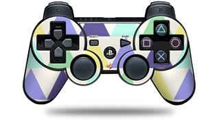 Sony PS3 Controller Decal Style Skin - Triangles Cool (CONTROLLER NOT INCLUDED)