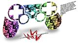 Sony PS3 Controller Decal Style Skin - Skull Checker Rainbow (CONTROLLER NOT INCLUDED)