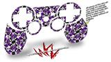 Sony PS3 Controller Decal Style Skin - Splatter Girly Skull Purple (CONTROLLER NOT INCLUDED)