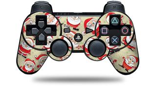 Sony PS3 Controller Decal Style Skin - Lots of Santas (CONTROLLER NOT INCLUDED)