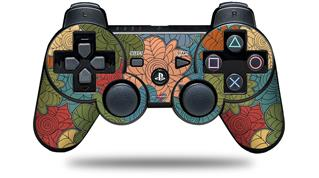 Sony PS3 Controller Decal Style Skin - Flowers Pattern 01 (CONTROLLER NOT INCLUDED)