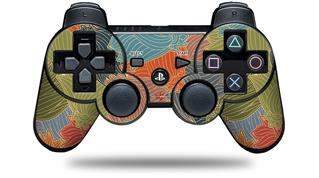 Sony PS3 Controller Decal Style Skin - Flowers Pattern 03 (CONTROLLER NOT INCLUDED)