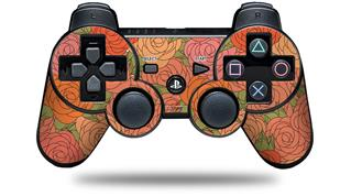 Sony PS3 Controller Decal Style Skin - Flowers Pattern Roses 06 (CONTROLLER NOT INCLUDED)