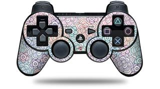 Sony PS3 Controller Decal Style Skin - Flowers Pattern 08 (CONTROLLER NOT INCLUDED)