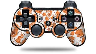 Sony PS3 Controller Decal Style Skin - Flowers Pattern 14 (CONTROLLER NOT INCLUDED)