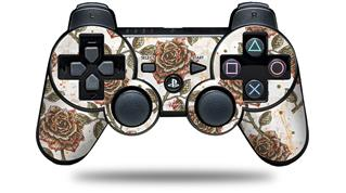 Sony PS3 Controller Decal Style Skin - Flowers Pattern Roses 20 (CONTROLLER NOT INCLUDED)
