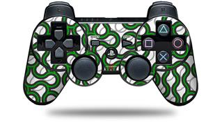 Sony PS3 Controller Decal Style Skin - Locknodes 01 Green (CONTROLLER NOT INCLUDED)