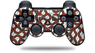 Sony PS3 Controller Decal Style Skin - Locknodes 01 Red (CONTROLLER NOT INCLUDED)