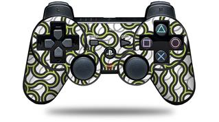 Sony PS3 Controller Decal Style Skin - Locknodes 01 Sage Green (CONTROLLER NOT INCLUDED)