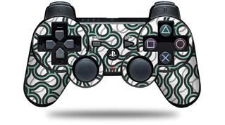Sony PS3 Controller Decal Style Skin - Locknodes 01 Seafoam Green (CONTROLLER NOT INCLUDED)