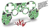 Sony PS3 Controller Decal Style Skin - Locknodes 02 Green (CONTROLLER NOT INCLUDED)