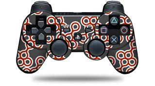 Sony PS3 Controller Decal Style Skin - Locknodes 02 Red Dark (CONTROLLER NOT INCLUDED)
