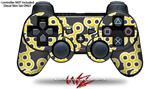Sony PS3 Controller Decal Style Skin - Locknodes 02 Yellow (CONTROLLER NOT INCLUDED)