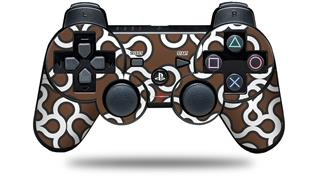 Sony PS3 Controller Decal Style Skin - Locknodes 03 Chocolate Brown (CONTROLLER NOT INCLUDED)
