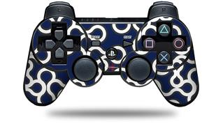 Sony PS3 Controller Decal Style Skin - Locknodes 03 Navy Blue (CONTROLLER NOT INCLUDED)