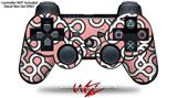 Sony PS3 Controller Decal Style Skin - Locknodes 03 Pink (CONTROLLER NOT INCLUDED)