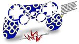 Sony PS3 Controller Decal Style Skin - Locknodes 03 Royal Blue (CONTROLLER NOT INCLUDED)