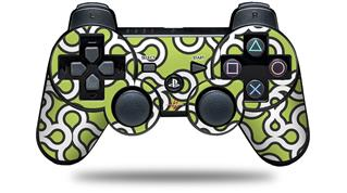 Sony PS3 Controller Decal Style Skin - Locknodes 03 Sage Green (CONTROLLER NOT INCLUDED)