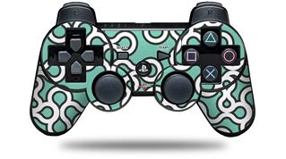 Sony PS3 Controller Decal Style Skin - Locknodes 03 Seafoam Green (CONTROLLER NOT INCLUDED)