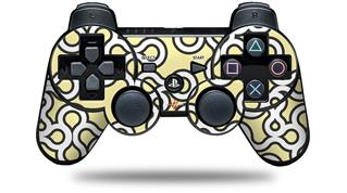 Sony PS3 Controller Decal Style Skin - Locknodes 03 Yellow Sunshine (CONTROLLER NOT INCLUDED)