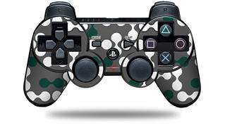 Sony PS3 Controller Decal Style Skin - Locknodes 04 Hunter Green (CONTROLLER NOT INCLUDED)