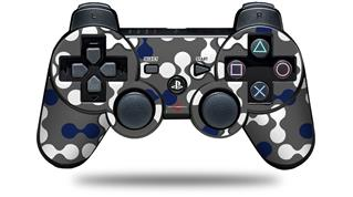 Sony PS3 Controller Decal Style Skin - Locknodes 04 Navy Blue (CONTROLLER NOT INCLUDED)