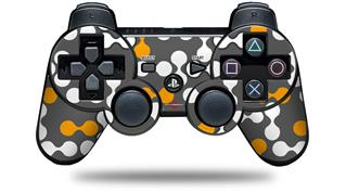 Sony PS3 Controller Decal Style Skin - Locknodes 04 Orange (CONTROLLER NOT INCLUDED)