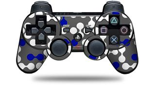 Sony PS3 Controller Decal Style Skin - Locknodes 04 Royal Blue (CONTROLLER NOT INCLUDED)