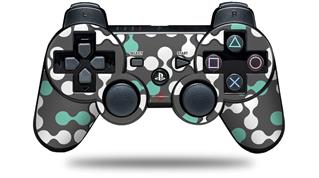 Sony PS3 Controller Decal Style Skin - Locknodes 04 Seafoam Green (CONTROLLER NOT INCLUDED)