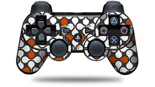 Sony PS3 Controller Decal Style Skin - Locknodes 05 Burnt Orange (CONTROLLER NOT INCLUDED)
