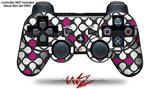 Sony PS3 Controller Decal Style Skin - Locknodes 05 Hot Pink (Fuchsia) (CONTROLLER NOT INCLUDED)