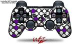 Sony PS3 Controller Decal Style Skin - Locknodes 05 Purple (CONTROLLER NOT INCLUDED)