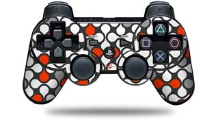 Sony PS3 Controller Decal Style Skin - Locknodes 05 Red (CONTROLLER NOT INCLUDED)