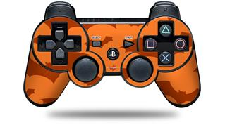 Sony PS3 Controller Decal Style Skin - Deathrock Bats Orange (CONTROLLER NOT INCLUDED)