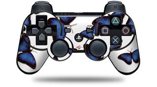 Sony PS3 Controller Decal Style Skin - Butterflies Blue (CONTROLLER NOT INCLUDED)