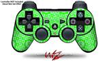 Sony PS3 Controller Decal Style Skin - Gothic Punk Pattern Green (CONTROLLER NOT INCLUDED)