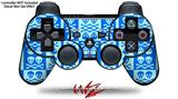 Sony PS3 Controller Decal Style Skin - Skull And Crossbones Pattern Blue (CONTROLLER NOT INCLUDED)