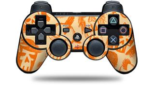 Sony PS3 Controller Decal Style Skin - Skull Sketches Orange (CONTROLLER NOT INCLUDED)