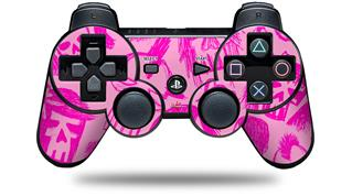 Sony PS3 Controller Decal Style Skin - Skull Sketches Pink (CONTROLLER NOT INCLUDED)