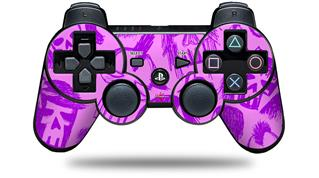 Sony PS3 Controller Decal Style Skin - Skull Sketches Purple (CONTROLLER NOT INCLUDED)