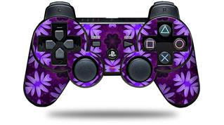 Sony PS3 Controller Decal Style Skin - Abstract Floral Purple (CONTROLLER NOT INCLUDED)