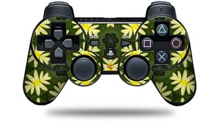 Sony PS3 Controller Decal Style Skin - Abstract Floral Yellow (CONTROLLER NOT INCLUDED)
