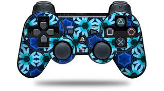 Sony PS3 Controller Decal Style Skin - Daisies Blue (CONTROLLER NOT INCLUDED)