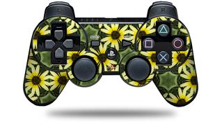 Sony PS3 Controller Decal Style Skin - Daisies Yellow (CONTROLLER NOT INCLUDED)