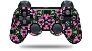 Sony PS3 Controller Decal Style Skin - Floral Pattern Pink (CONTROLLER NOT INCLUDED)